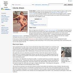 Cécile Allain - Nudist History