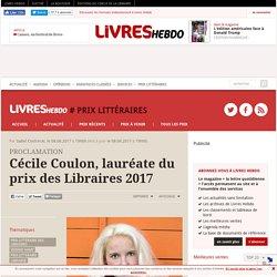 Cécile Coulon, lauréate du prix des Libraires 2017
