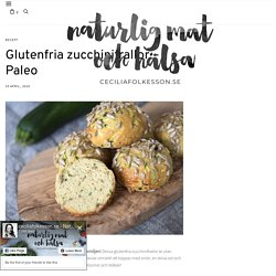 Glutenfria zucchinifrallor – Paleo - ceciliafolkesson.se – Naturlig mat & Hälsa
