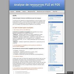 CECRL « Analyse de ressources FLE et FOS