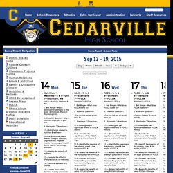 Cedarville High School - Lesson Plans