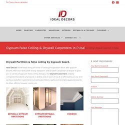 Drywall carpenter Dubai
