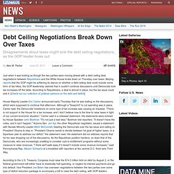 Debt Ceiling Negotiations Break Down Over Taxes