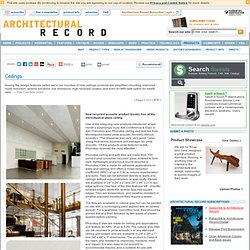 Ceilings - Architectural Record Products