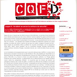 Loppsi II : Va falloir se serrer la ceinture de sécurité ! - CQFD, mensuel de critique sociale