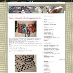 Ceinture OBI en patchwork de tissus japonais, liens bleu - Le blog de Ktlin Chiffons Créations