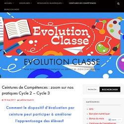 Ceintures de Compétences : zoom sur nos pratiques Cycle 2 – Cycle 3 – Evolution Classe