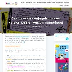 Ceintures de conjugaison version 2018 (avec version DYS)