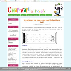 Ceintures de tables de multiplications (v2) - Charivari à l'école