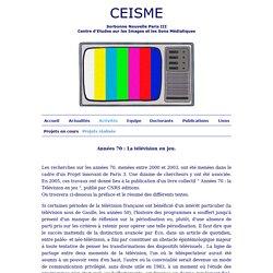 CEISME - La télévision en jeu