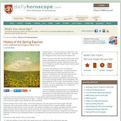 Celebrate the astrological new year with the history behind the Spring Equinox