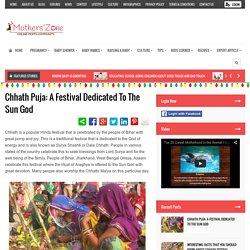 Celebrate Chhath Puja Festival