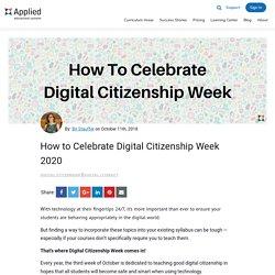 How to Celebrate Digital Citizenship Week 2020