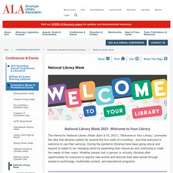 Celebrate National Library Week 2011 (April 10-16)!First sponsored in 1958, National Library Week is a national observance sponsored by the American Library Association (ALA) and libraries across the country each April. It is a time to celebrate the contr