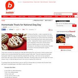 Celebrate National Dog Day with homemade dog treats.