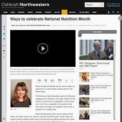 Molly Butz: How to celebrate National Nutrition Month