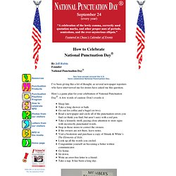 How to Celebrate National Punctuation Day