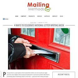 Mailing Methods Letter Writing Week at St.Louis
