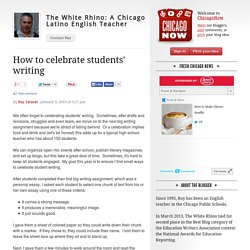 The White Rhino: A Chicago Latino English Teacher