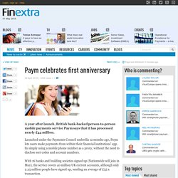 Paym celebrates first anniversary