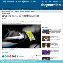 JD Sports celebrates record 80% profit rise
