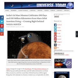 India's 1st Mars Mission Celebrates 100 Days and 100 Million Kilometers from Mars Orbit Insertion Firing – Cruising Right behind NASA's MAVEN