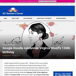 Google Doodle celebrates Virginia Woolf's 136th birthday
