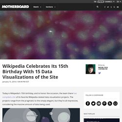 Wikipedia Celebrates Its 15th Birthday With 15 Data Visualizations of the Site