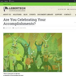 Are You Celebrating Your Accomplishments?