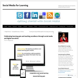 Celebrating learning gain and teaching excellence through social media and digital narratives