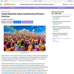 Celebrating Holi, India's Joyful Festival Of Colors And Love Kids News Article