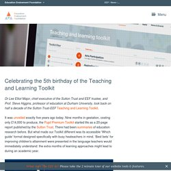 Celebrating the 5th birthday of the Teaching and Learning Toolkit