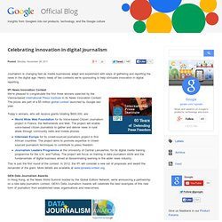 Celebrating innovation in digital journalism