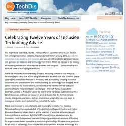 JISC Celebrating Twelve Years of Inclusion Technology Advice