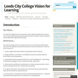 Leeds City College Festival of Learning 2012 | celebrating and transforming learning at Leeds City College