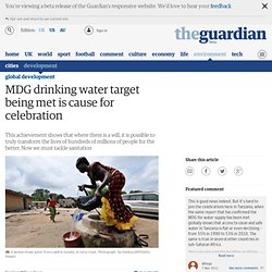MDG drinking water target being met