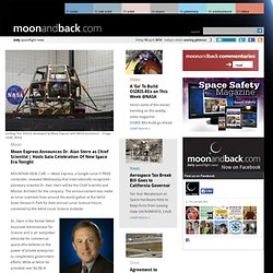 Moon Express Hires Chief Scientist, Hosts Gala Celebration