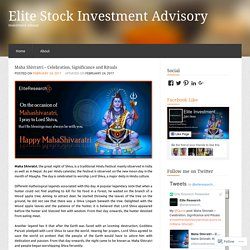 Maha Shivratri – Celebration, Significance and Rituals « Elite Stock Investment Advisory