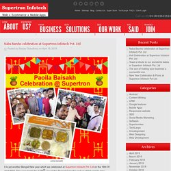 Naba Barsho celebration at Supertron Infotech Pvt. Ltd
