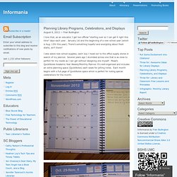 Planning Library Programs, Celebrations, and Displays « Informania