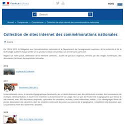 Célébrations nationales : collection des sites internet