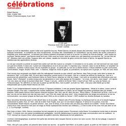 A propos de Robert Desnos (site du ministère de la Culture)