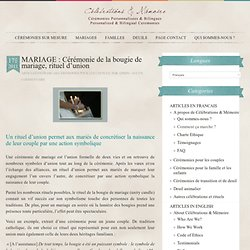 MARIAGE : Cérémonie de la bougie de mariage, rituel d'union @ Célébrations & Mémoire - Cérémonies laïques et spirituellesCélébrations & Mémoire – Cérémonies laïques et spirituelles