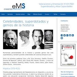 Celebridades, superdotados y genios de la historia