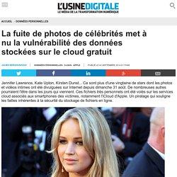La fuite de photos de célébrités met à nu la vulnérabilité des données stockées sur le cloud gratuit