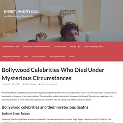 Bollywood Celebrities Who Died Under Mysterious Circumstances