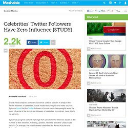 Celebrities' Twitter Followers Have Zero Influence [STUDY]