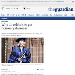 Why do celebrities get honorary degrees?