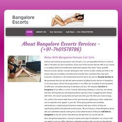 Celebrity Escort Service 7401578786 Female Escort in Bangalore