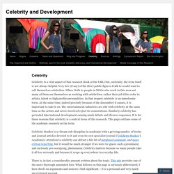 Celebrity and Development